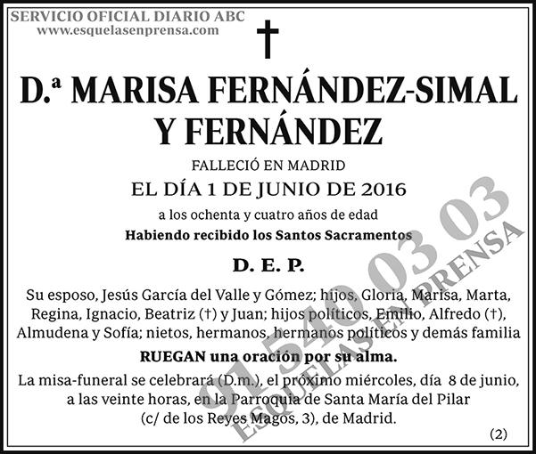 Marisa Fernández-Simal y Fernández